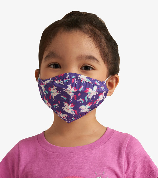 Non-Medical Reusable Toddler Face Mask - Majestic Unicorns