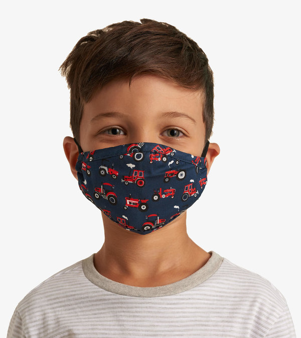 Non-Medical Reusable Toddler Face Mask - Red Farm Tractors
