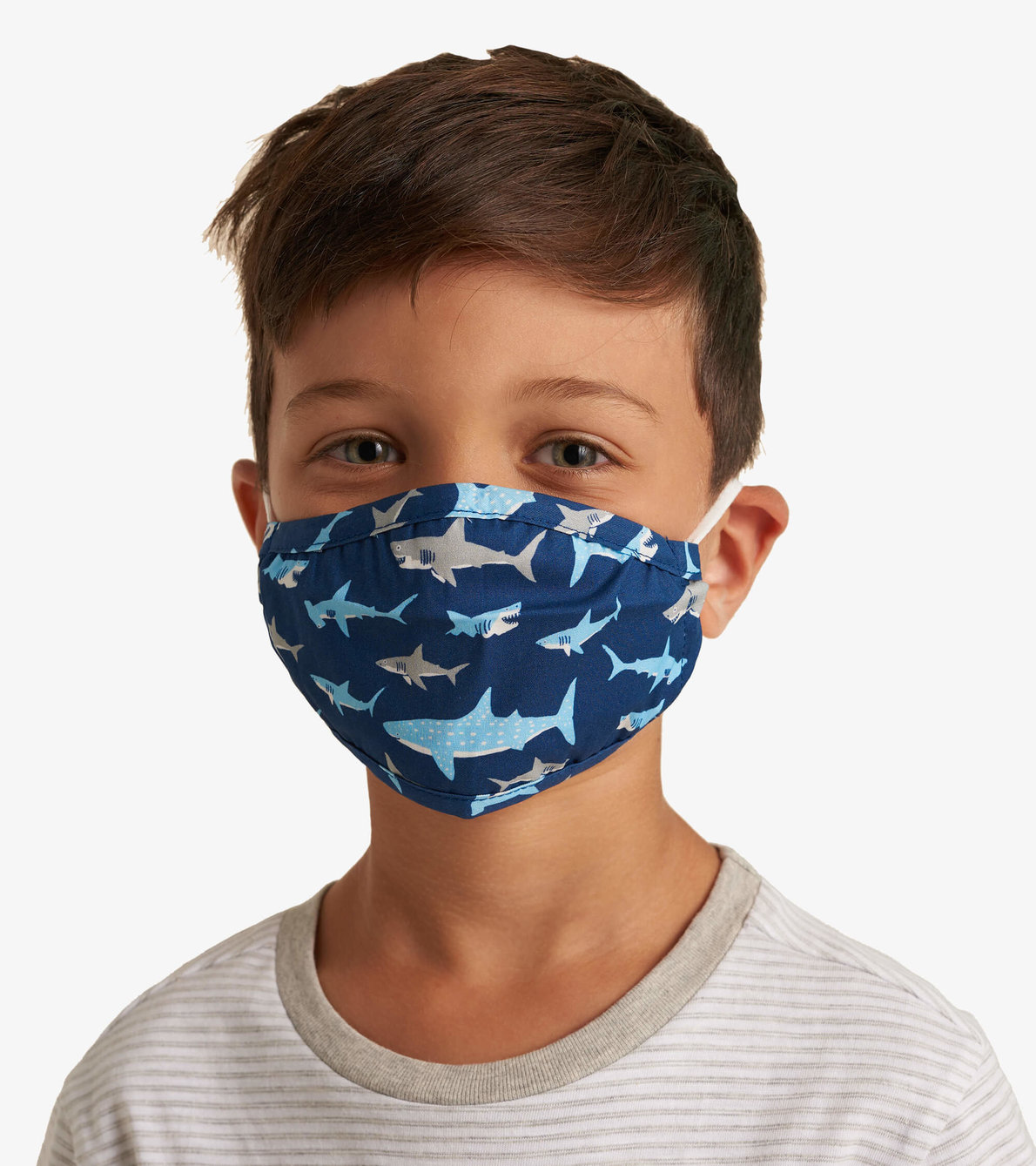 View larger image of Non-Medical Reusable Toddler Face Mask - Shark Frenzy