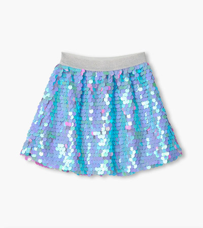 Opalescent Purple Sequin Skirt