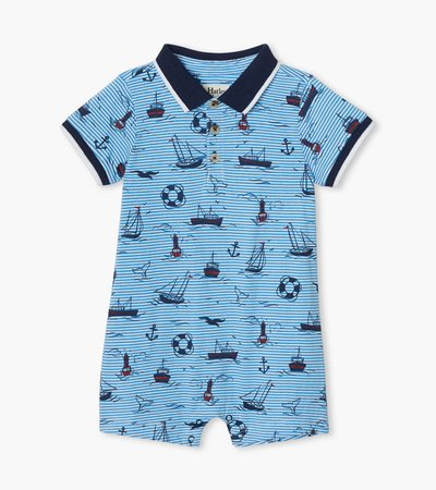 Out At Sea Baby Polo Romper