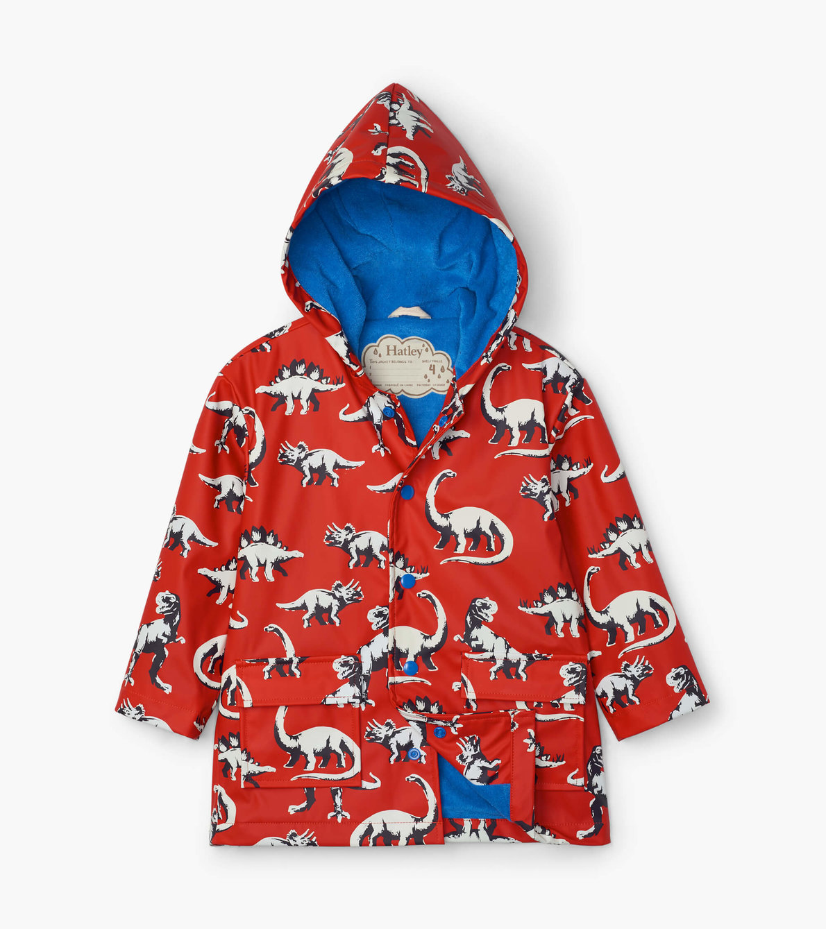 View larger image of Painted Dinos Colour Changing Raincoat