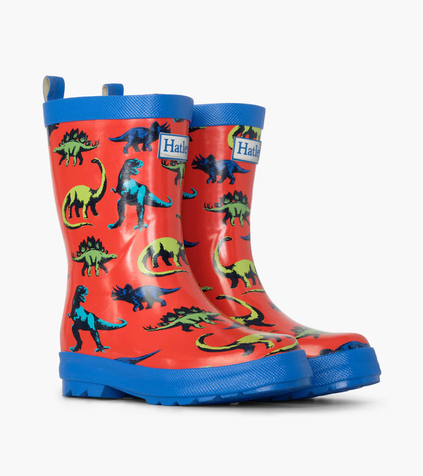 Painted Dinos Shiny Rain Boots