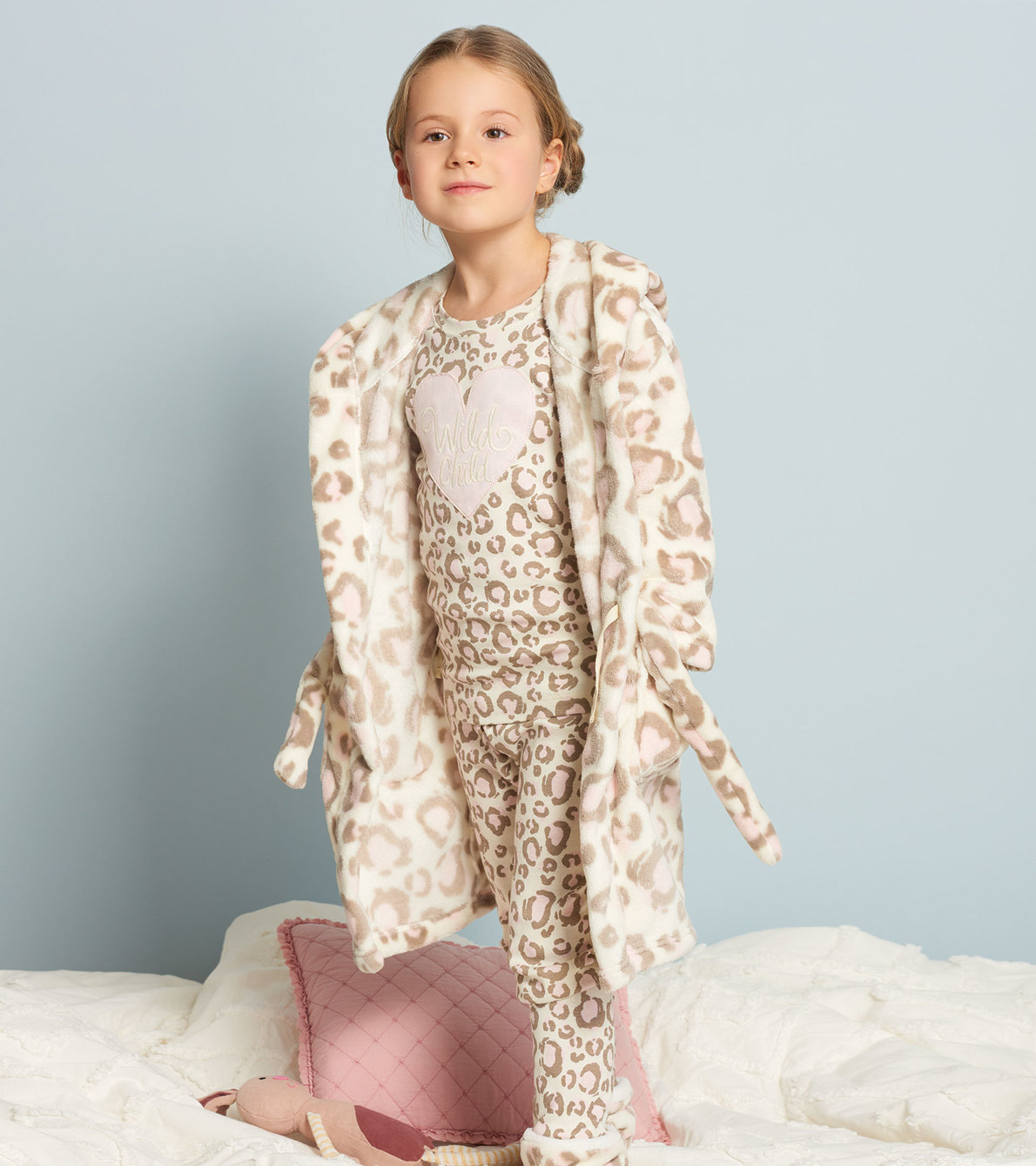 View larger image of Painted Leopard Fleece Robe
