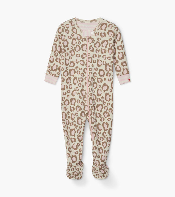Painted Leopard Organic Cotton Footed Coverall