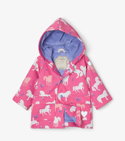 Painted Pasture Colour Changing Baby Raincoat