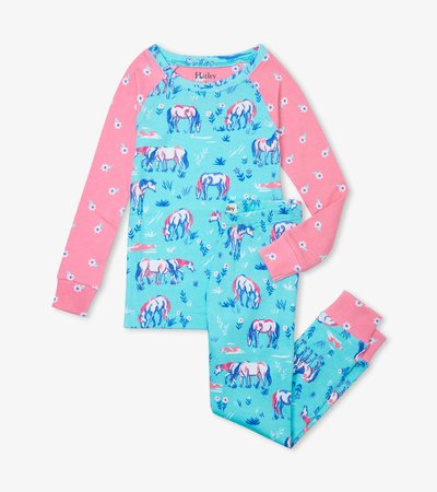 Painted Pasture Organic Cotton Raglan Pajama Set