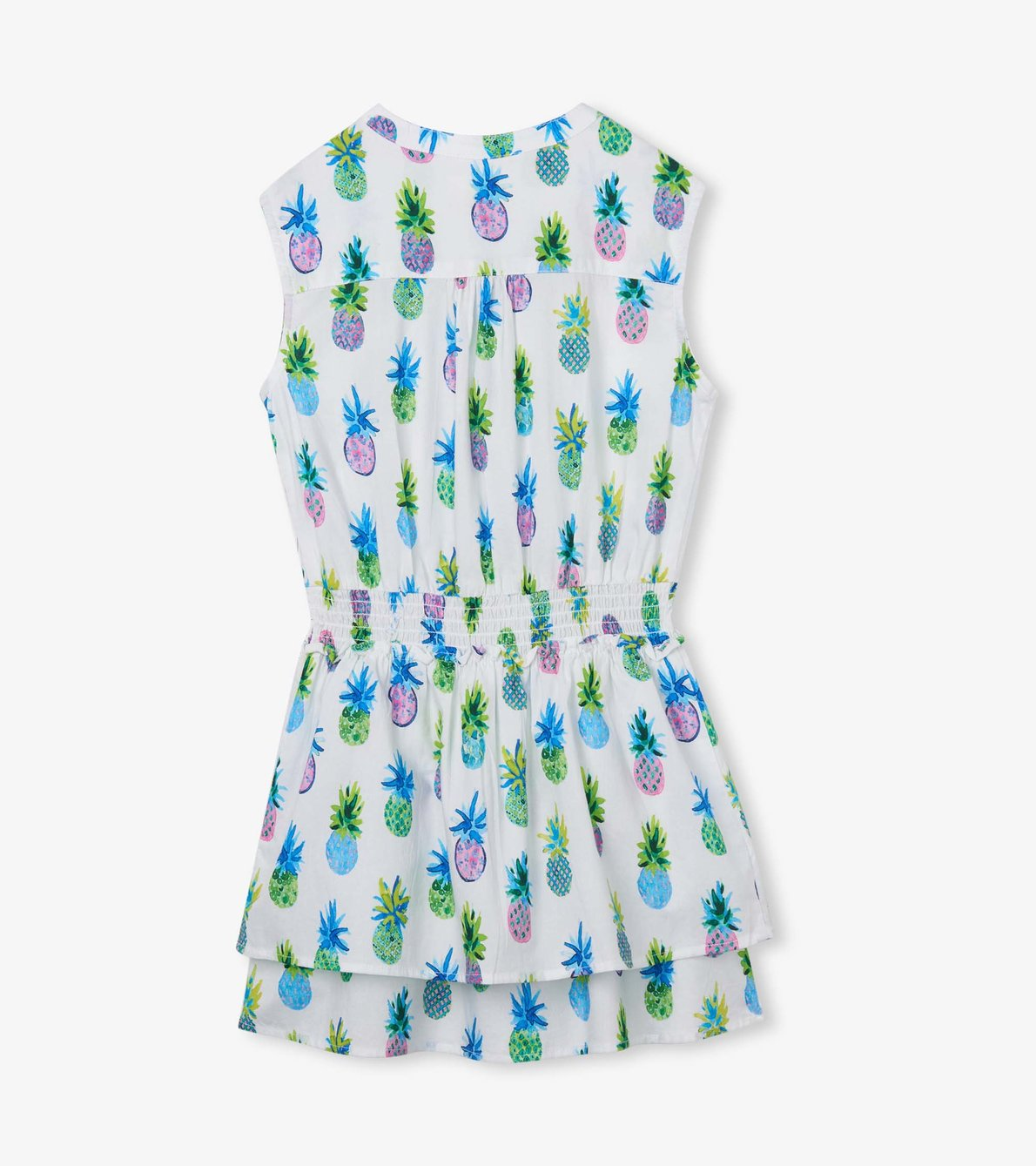 View larger image of Painted Pineapples Smocked Waist Dress