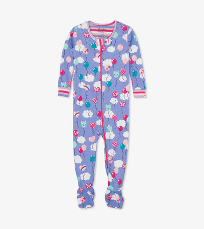 Party Balloons Organic Cotton Footed Coverall