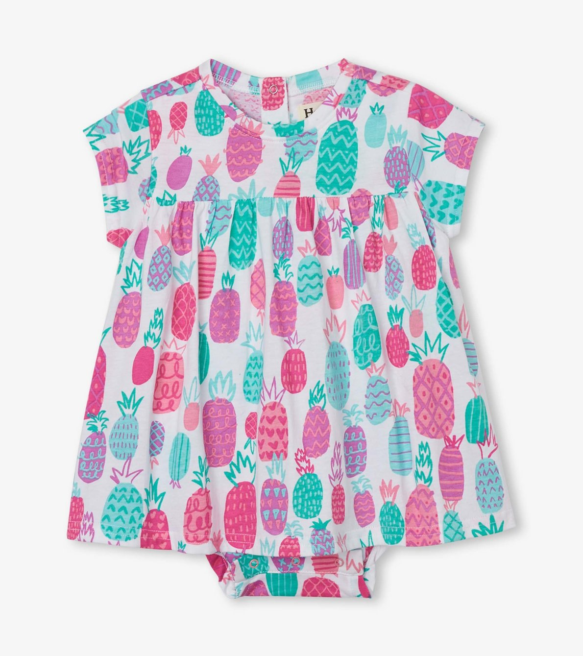 View larger image of Pineapple Doodles Baby One-Piece Dress