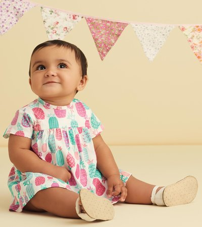 Pineapple Doodles Baby One-Piece Dress