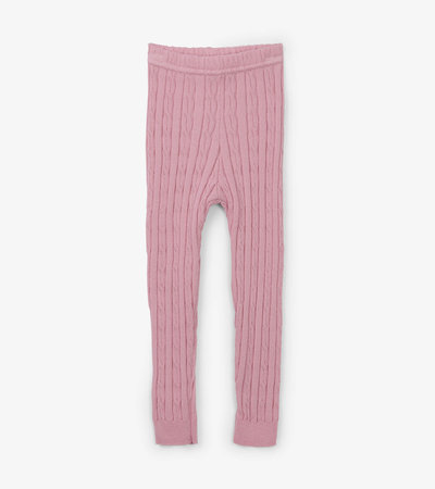 Pink Cable Knit Baby Tights