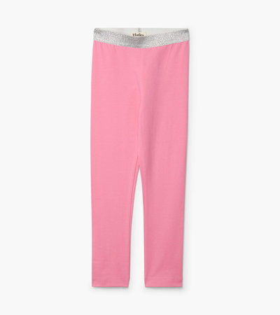 Pink Embellished Waist Leggings