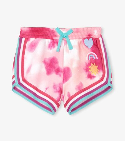 Pink French Terry Jogging Shorts