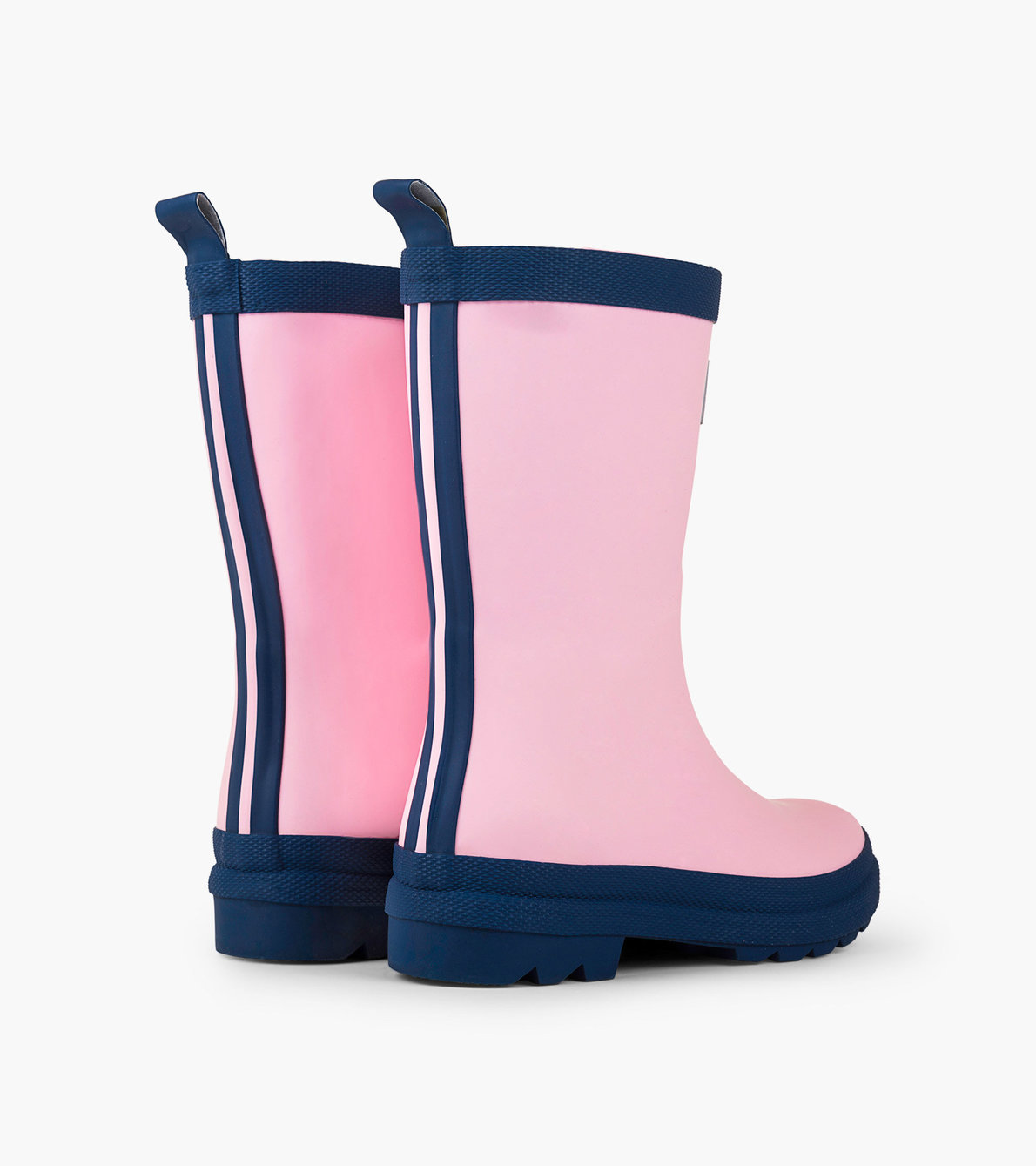 View larger image of Pink & Navy Matte Rain Boots