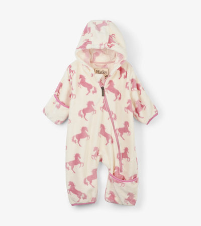 Playful Horses Fuzzy Fleece Baby Bundler