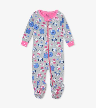 Playful Pups Organic Cotton Footed Coverall