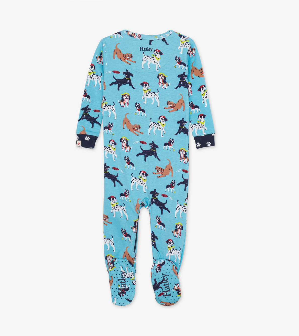 View larger image of Playful Pups Organic Cotton Footed Coverall