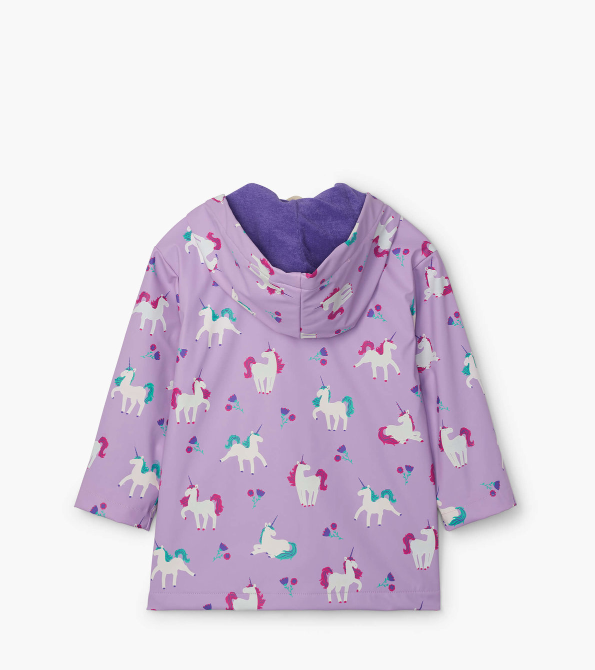 View larger image of Playful Unicorns Colour Changing Raincoat