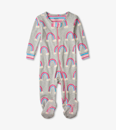 Pretty Rainbows Organic Cotton Footed Coverall