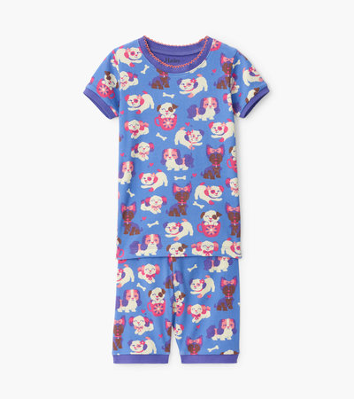 Puppy Love Organic Cotton Short Pajama Set