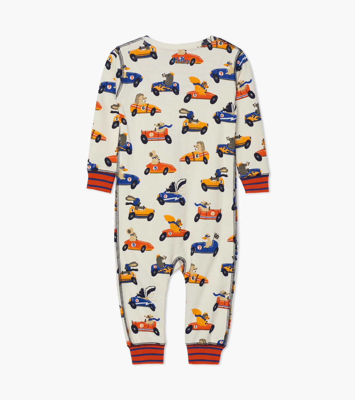 View larger image of Racing Animals Organic Cotton Coverall