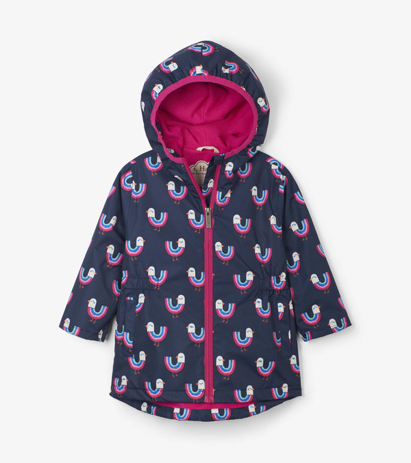 Rainbow Birds Microfiber Rain Jacket