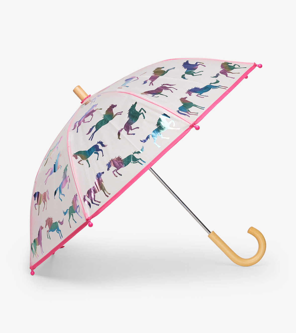 View larger image of Rainbow Horses Clear Umbrella