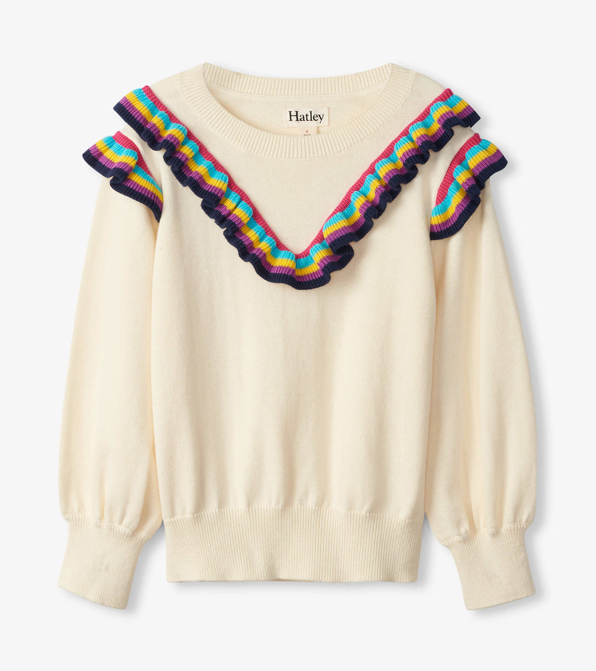 View larger image of Rainbow Ruffle Sweater