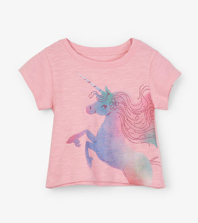 Rainbow Unicorn Baby Tee