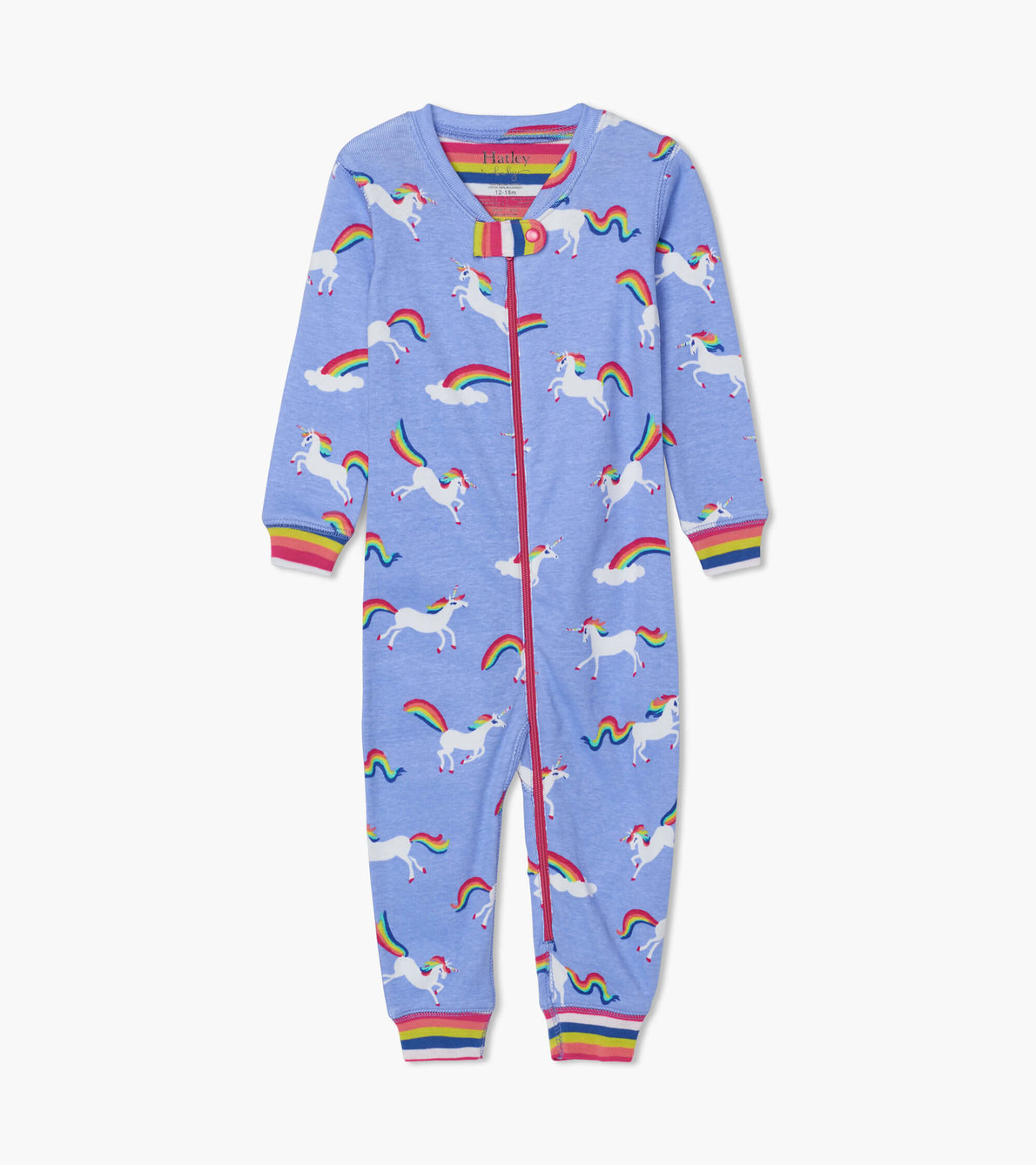 View larger image of Rainbow Unicorns Organic Cotton Coverall
