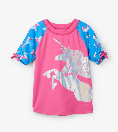 Rainbow Unicorns Short Sleeve Rashguard