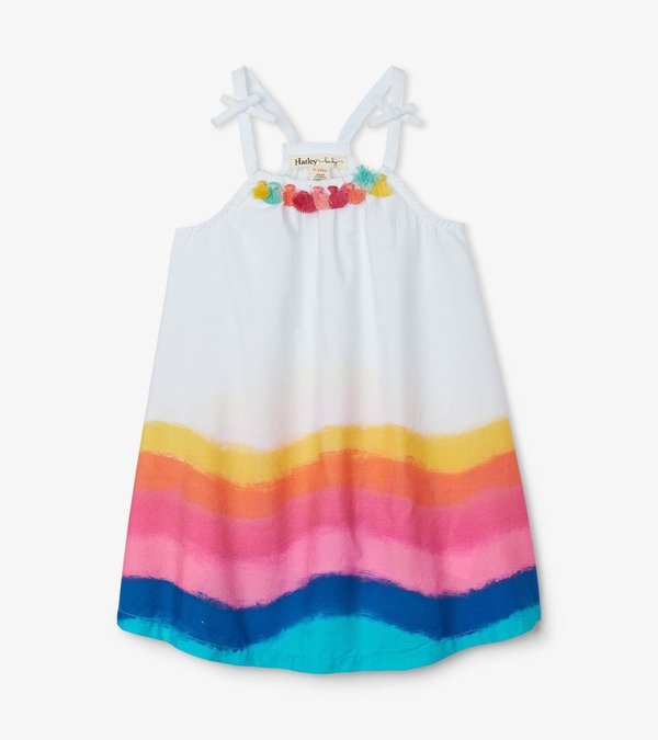 Rainbow Waves Baby A-Line Swing Dress