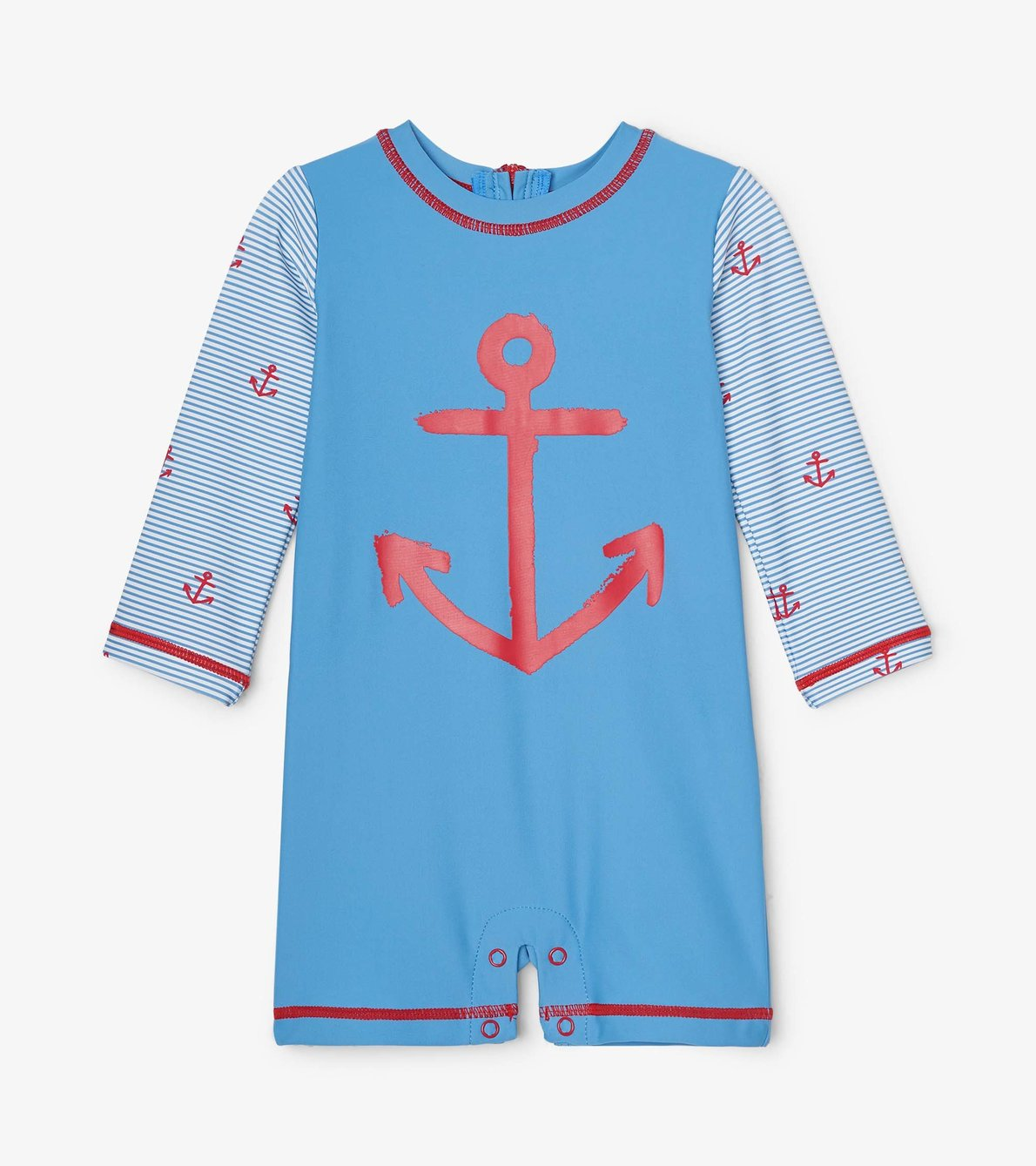 View larger image of Red Anchors Baby One-Piece Rashguard