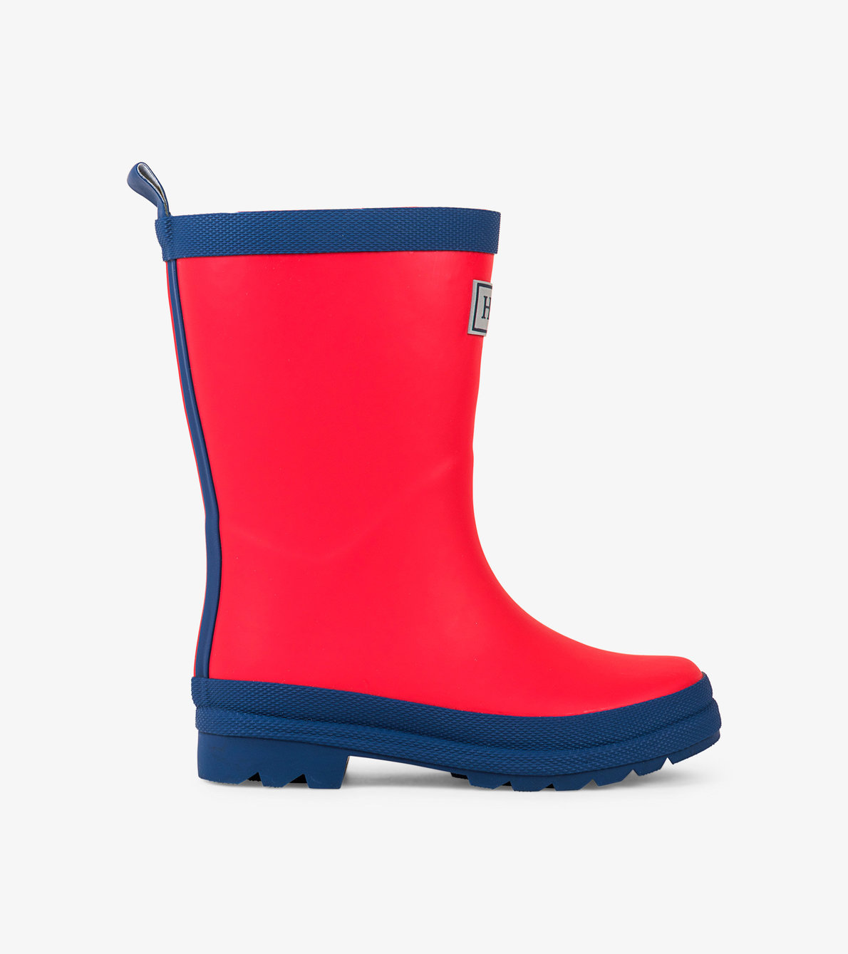 View larger image of Red & Navy Matte Rain Boots