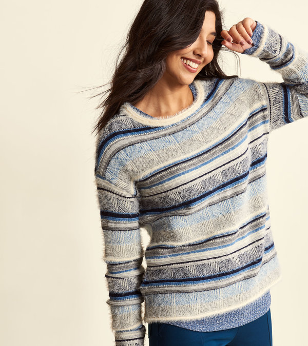 Renee Sweater - Multi-Stripes