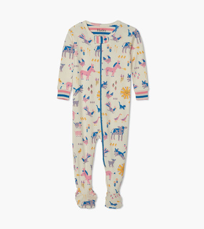 Retro Farm Organic Cotton Footed Coverall