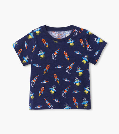 Retro Rockets Baby Graphic Tee