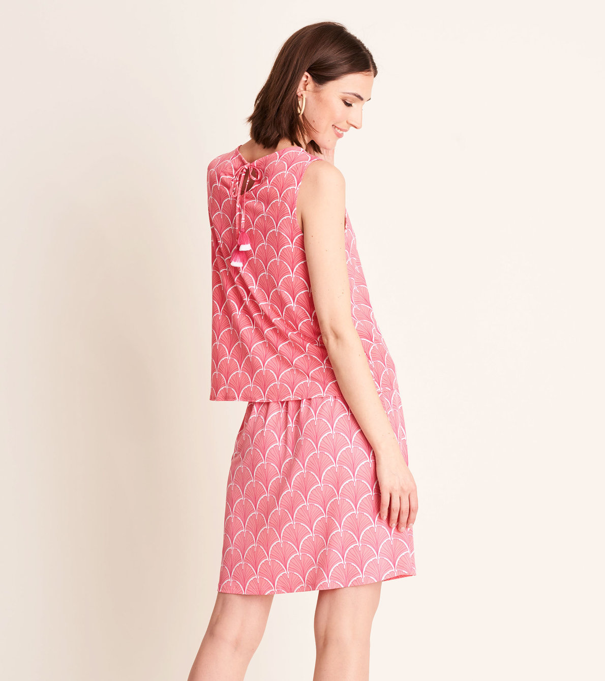 View larger image of Roberta Dress - Coral Fans