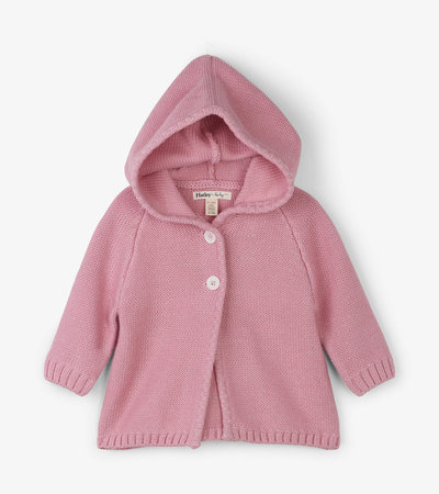 Rose Shimmer Baby Sweater Hoodie