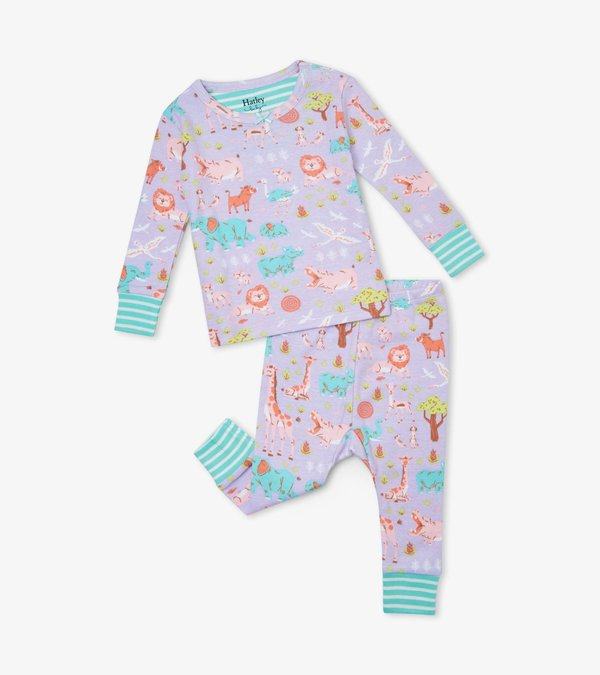 Safari At Dusk Organic Cotton Baby Pajama Set