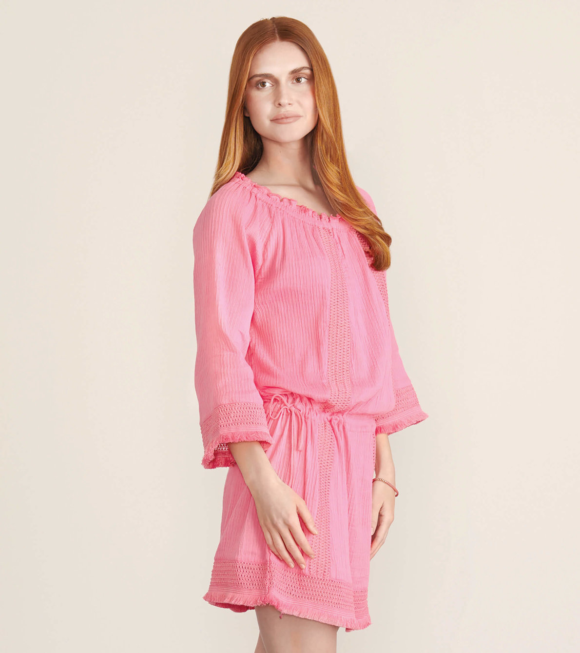 View larger image of Sanibel Beach Cover Up - Neon Fuchsia