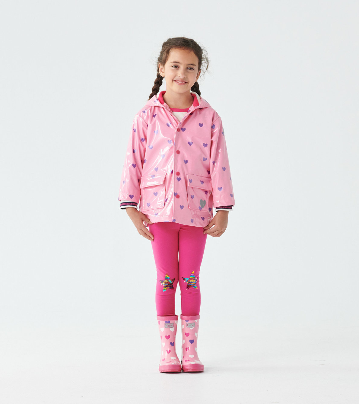 View larger image of Scattered Hearts Glitter Raincoat