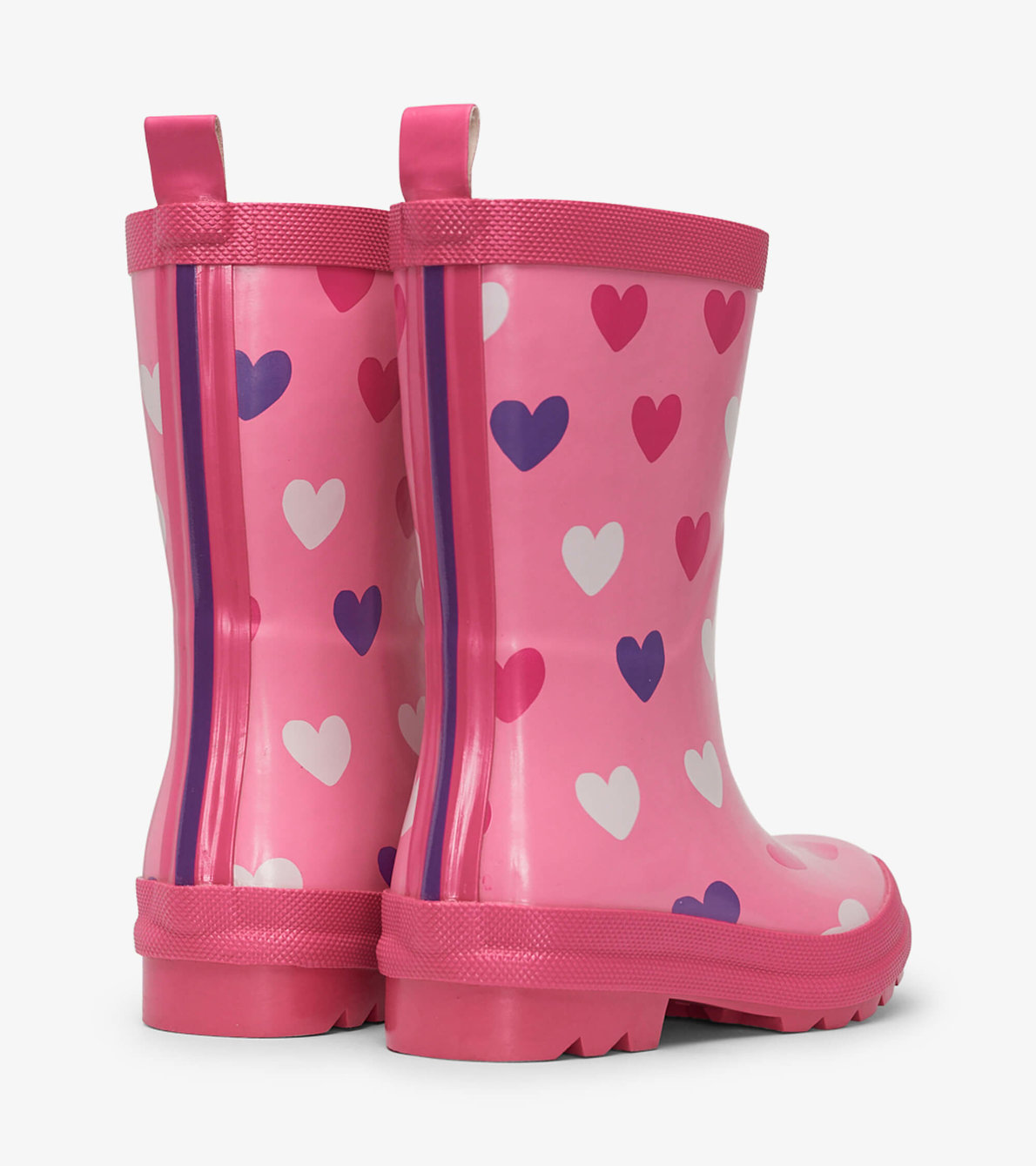 View larger image of Scattered Hearts Shiny Rain Boots