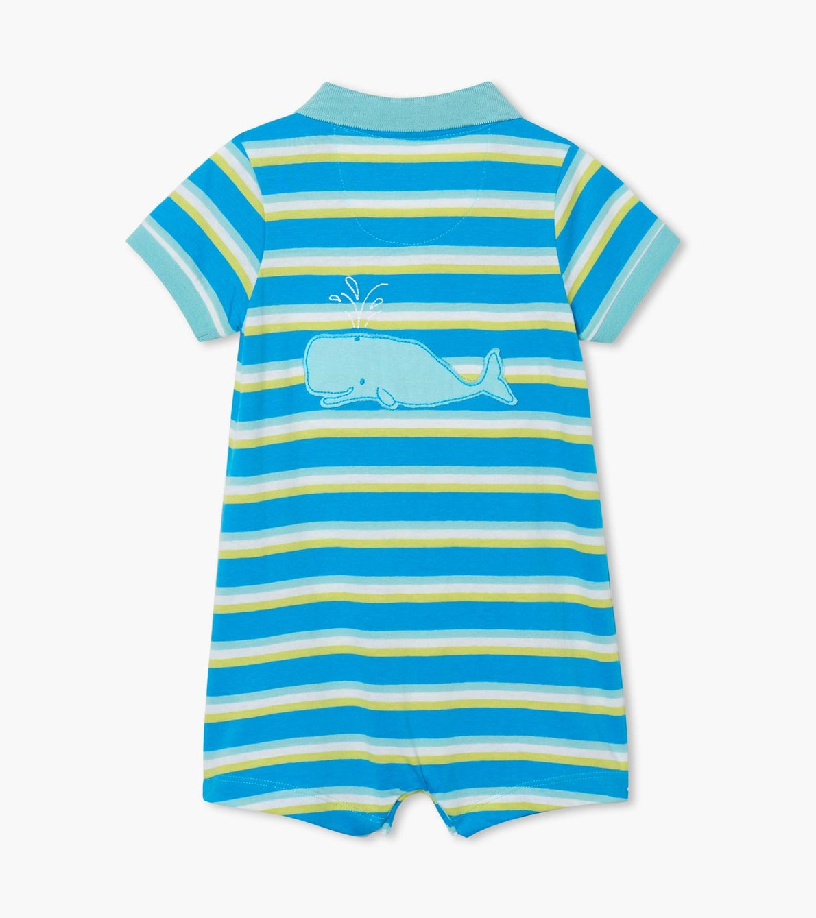 View larger image of Sea Stripes Baby Polo Romper