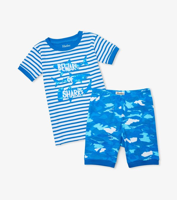 Shark Camo Organic Cotton Short Pajama Set