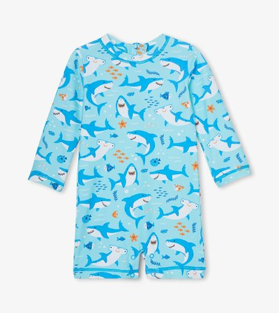 Shark Party Baby One-Piece Rashguard