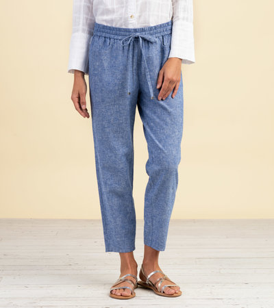 Sierra Cotton Linen Pants - Chambray