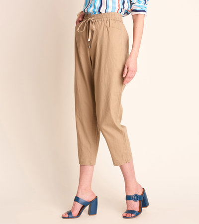 Sierra Cotton Linen Pants - Sand