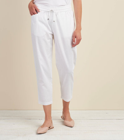 Sierra Cotton Linen Pants - White